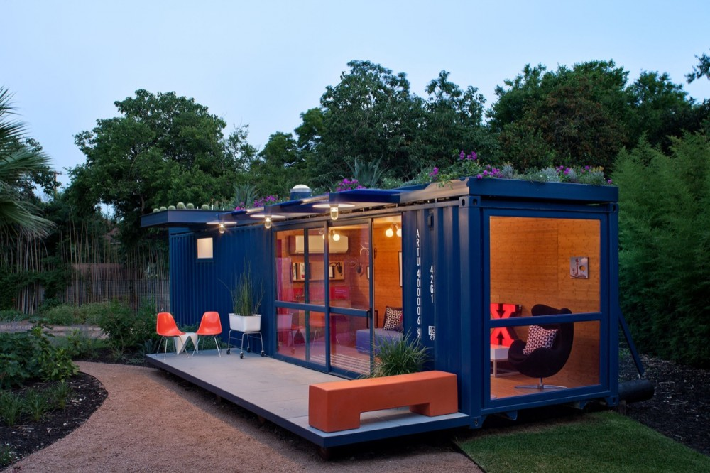Maisons containers chambre d amis container 6 for Maison 6 container