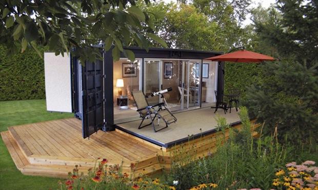 Mini maison container autonome par Ecopods